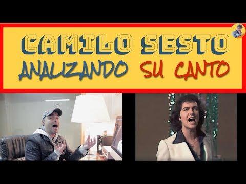 CAMILO SESTO - VIVIR ASI ES MORIR DE AMOR - Analizando Su canto En Vivo