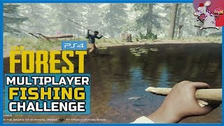 The Forest PS4 Fishing And Defending - Multiplayer Gameplay