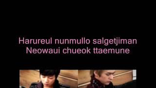 BEAST (B2ST) DooJoon ft DongWoon-When the door closes (LYRIC)