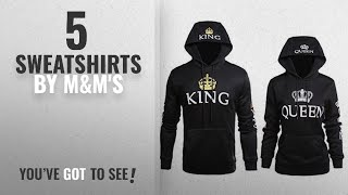 Top 10 M&M's Sweatshirts [2018]: Wangyue King Queen Matching Couple Pullover Hoodie Set Valentine's