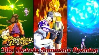 30x Tickets Summons Opening! O.O Ziehen wir kostenlos Sparkings? | Dragon Ball Legends Deutsch