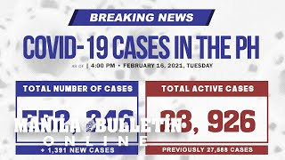 DOH reports 1,391 new cases, bringing the national total to 552, 246, as of February 16, 2021.