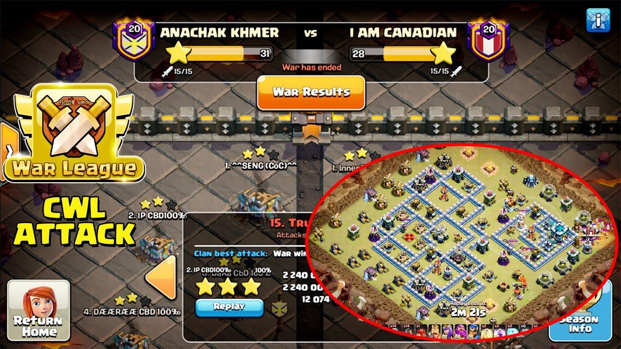CWL TH13 ATTACK STRATEGIES | CLASH OF CLANS CWL TH13 | 3-STAR TH13 WAR BASES - R1 ( clash of clans )