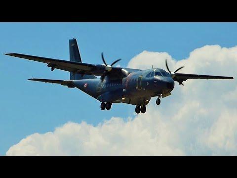 [FullHD] French Air Force CASA 235 landing at Geneva/GVA/LSGG