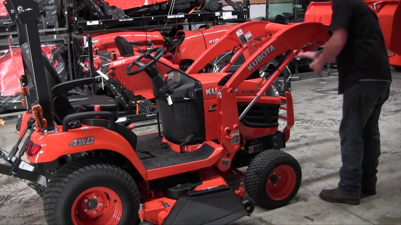 How To Remove A Kubota Bx Series Loader Youtube