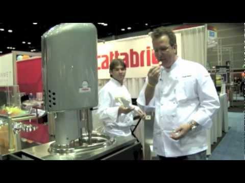 Keegan Gerhard Introduces the Cattabriga EFFE gelato machine