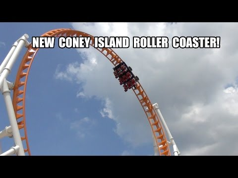 Thunderbolt Roller Coaster POV Coney Island Luna Park New York City