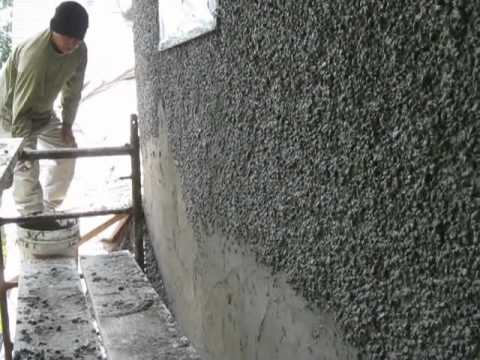 Applying Pebble Dash Stucco Youtube