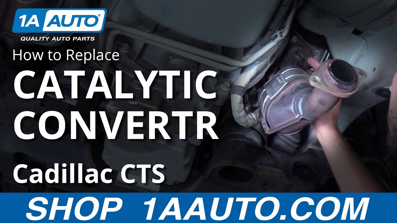 Replace Install Driver Side Catalytic Converter 2006 Cadillac ...