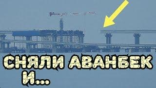 Крымский мост(декабрь 2018) Ж/Д надвижка на кривой демонтировали АВАНБЕК  ПОКРАСКА пролётов МК Обзор