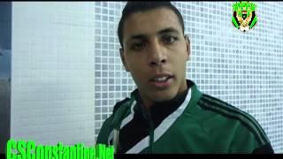 CSC 2 - CAB 0 : Déclarations du jeune Junior Daif :: 01/12/2012