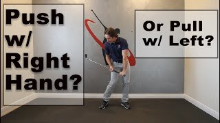 Why You Don't Want Pressure with Right Hand in Golf Swing