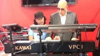 Mike Garson & Thiago Pinheiro Piano Improv @ NAMM 2014 Synthogy Ivory II