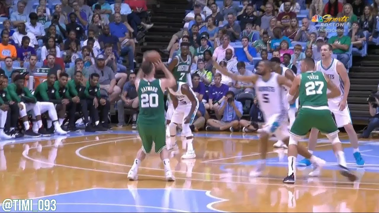 df7e5ea97fd Gordon Hayward Preseason Highlights vs Charlotte Hornets (10 pts, 3 reb) |  First game BACK!