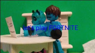 Let's Play Fortnite | Stop Motion | #stikbot