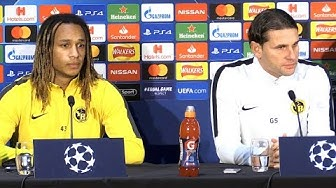 Gerardo Seoane & Kevin Mbabu Pre-Match Press Conference - Man United v Young Boys - Champions League