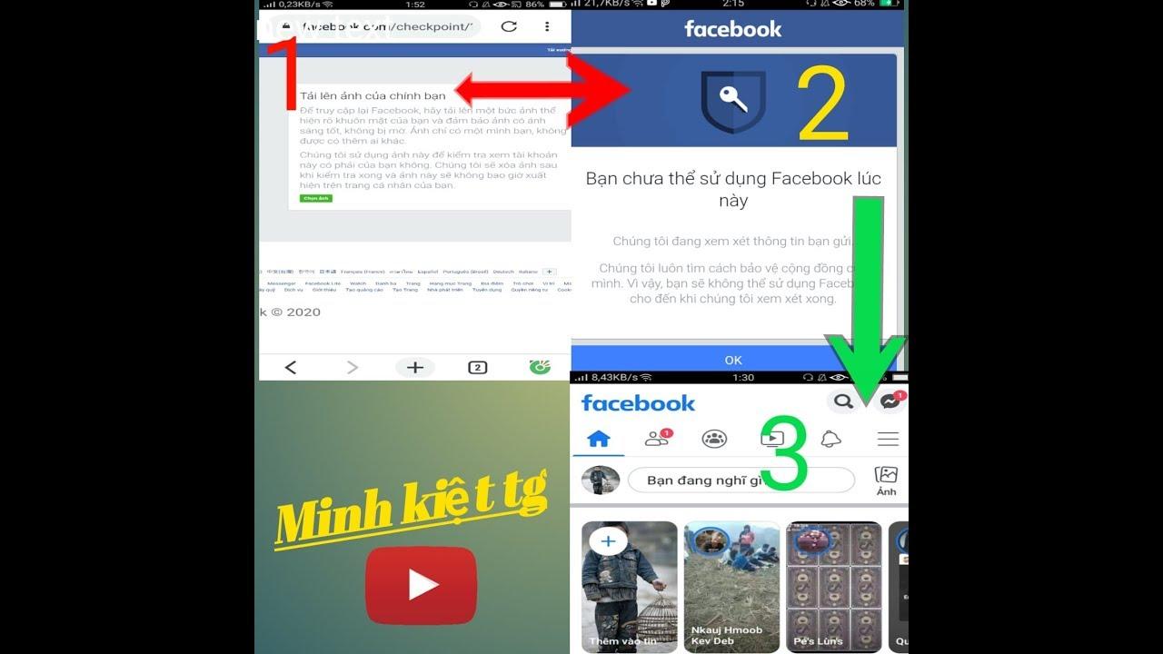 Bạn chưa thể sử dụng facebook lúc này !   you can't use facebook right now   minh kiệt tg