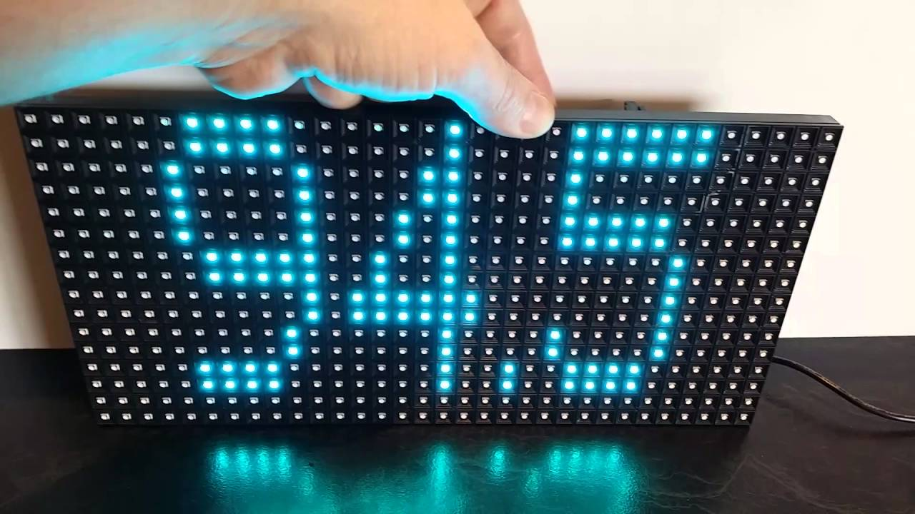 tuneto p10 led panel frequency setting