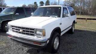 1989 Chevrolet S-10 Blazer 2-door Start Up, Engine, and In Depth Tour