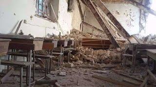 """شاهد كيف يعيش """"التكفيريون"""" والمسيحيون .. رسالة إلى روسيا من كنيسة السيدة العذراء في إدلب !"""