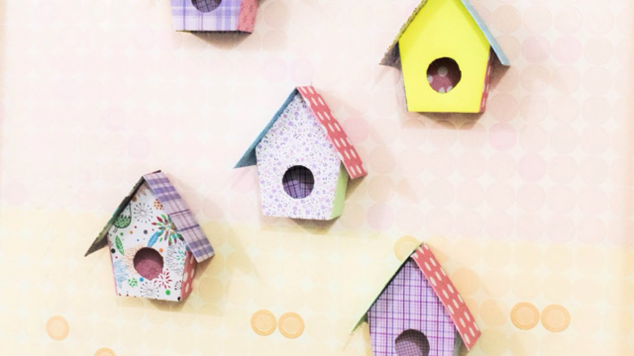 Make Adorable Birdhouse Wall Decorations - Home - Guidecentral - YouTube