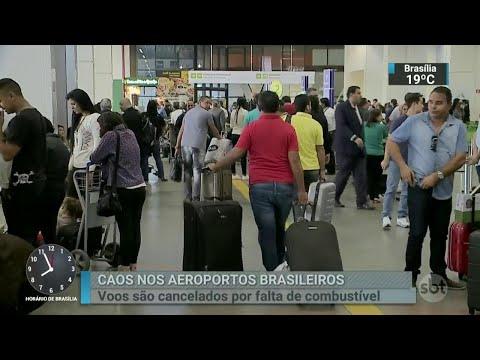 Aeroportos de seis capitais e do DF estão sem combustível | SBT Brasil (25/05/18)