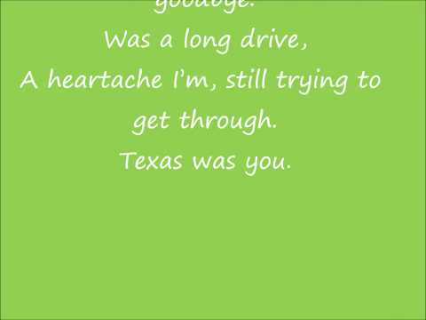 Texas Was You - Jason Aldean Lyrics