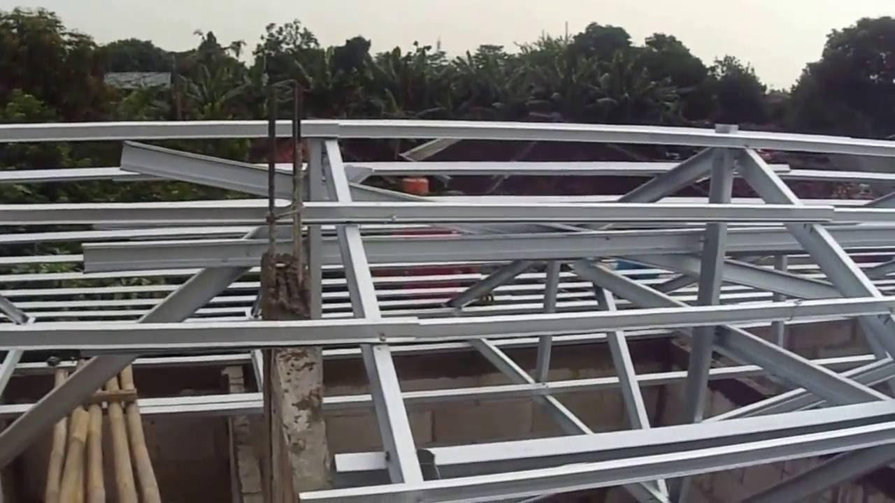 contoh atap baja ringan rumah minimalis merakit agar menghemat biaya youtube