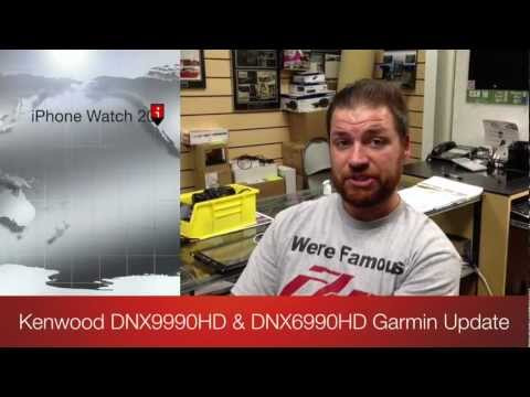Kenwood Electronics Excelon DNX DDX Software Update Garmin 2012 Navigation and Audio Video Units