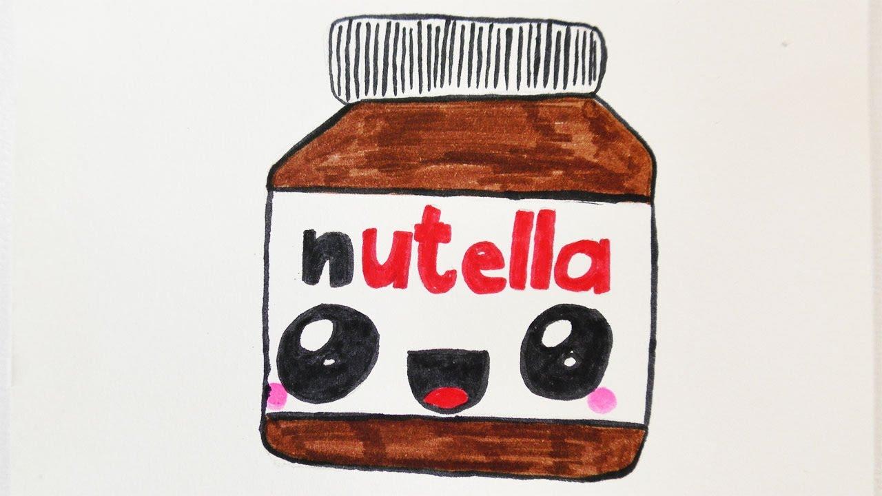 Kawaii Nutella Diy Zeichnen S 252 223 E Schoko Creme Malen F 252 R Einladungen Und Geburtstagskarten