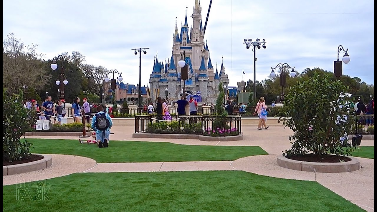 Magic Kingdom Hub Construction Update Feb 26 2015 Walt Disney World ...