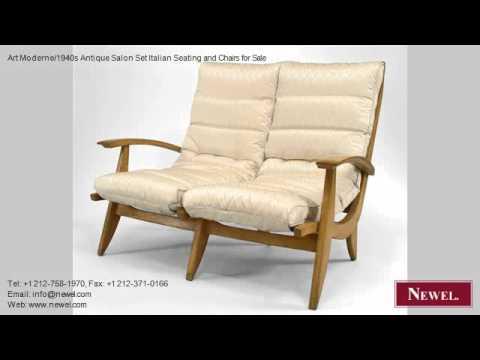 Art Moderne/1940s Antique Salon Set Italian Seating and ...