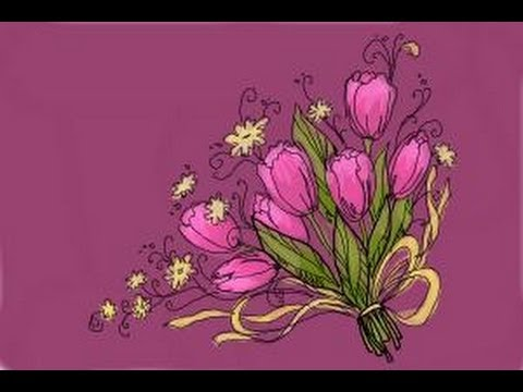 How to draw a bouquet of flowers youtube for How do i draw a flower