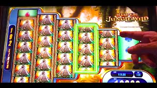 "BIG WIN! LIVE PLAY ""SUPER JUNGLE WILD"" Slot Machine Bonus"