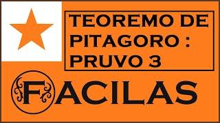 TEOREMO DE PITAGORO : PRUVO 3 (ESPERANTO)