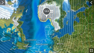 Heavy Snow/Winds for Northern Europe/Earthquake Update 15/1/2018