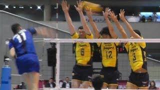 Volleyball パナソニック vs 堺  1set Vプレミアリーグバレーボール決勝 2013.4.14