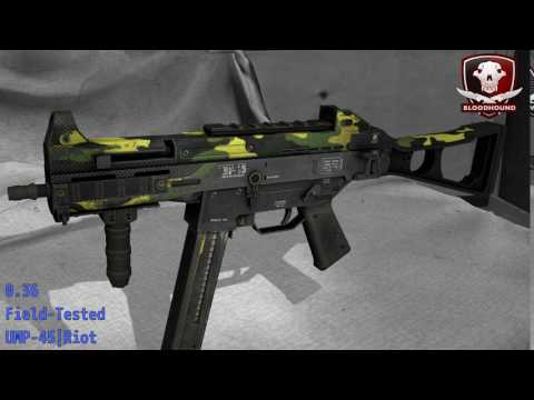 UMP-45 Riot - Skin Wear Preview