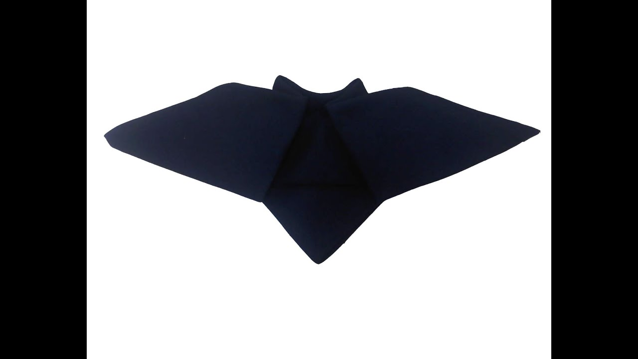 Bat halloween napkin plegado servilletas halloween murci lago youtube - Pliage serviette halloween ...