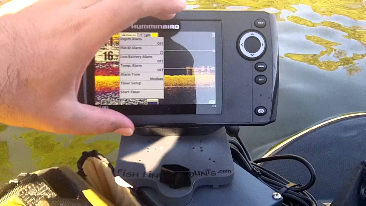 humminbird helix 5 review on the water from fish finder mounts, Fish Finder