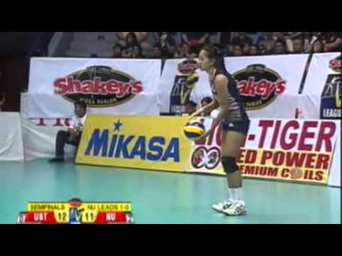 Nu vs UST Shakey's V-League 11 Semifinals game 2 - YouTube