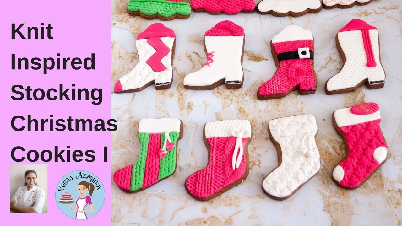 stockings christmas cookies with fondant cookie decorating tutorial
