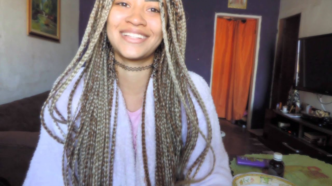Lavando as tranças Box Braids - Dayellen Pâmela - YouTube