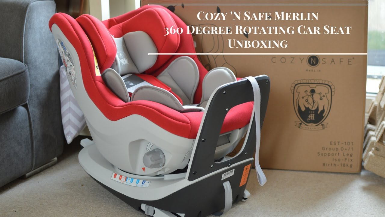 cozy 39 n safe merlin 360 degree rotating car seat unboxing youtube. Black Bedroom Furniture Sets. Home Design Ideas