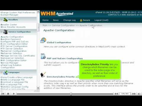 How to configure Apache web server in WHM - WHM Service Tutorials