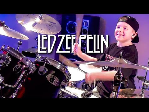 Good Times Bad Times - Drum Cover - 8 year old Drummer - Avery Drummer Molek