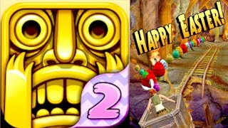 temple run 2 easter update bunny ears artifacts hunt gameplay