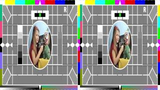 BBC Freeview HD 3D Preview :- Testcard
