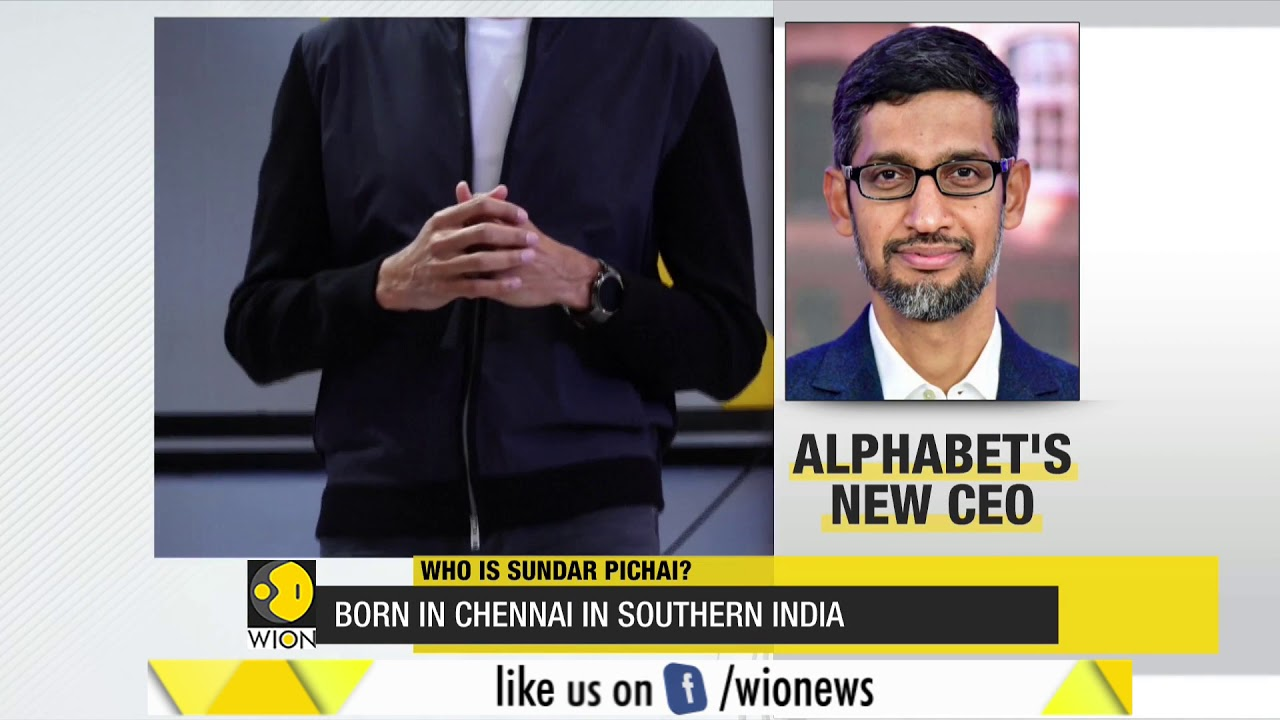 Major corporate restructuring at Google, Sundar Pichai becomes CEO of  Alphabet