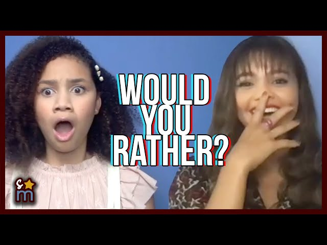 Would You Rather with the UPSIDE-DOWN MAGIC Cast | Izabela Rose & Siena Agudong